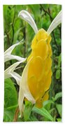 Golden Shrimp Plant Or Lollipop Plant Beach Towel