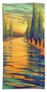 Golden Silence 3 Beach Towel
