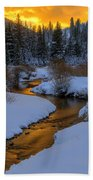 Golden Silence Beach Towel