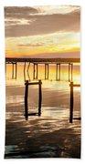 Golden Skies Beach Towel