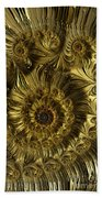 Golden Spiral Beach Towel