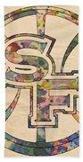 Golden State Warriors Poster Art Beach Towel