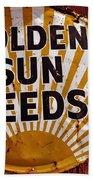 Golden Sun Feeds Beach Towel