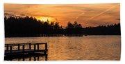 Golden Sunset Lake Horicon Lakehurst Nj Beach Towel