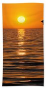Golden Sunset Beach Towel
