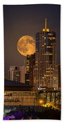 Golden Supermoon Beach Towel