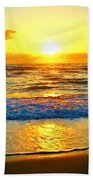Golden Surprise Sunrise Beach Towel