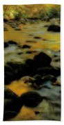Golden View Of The Little River In Autumn Beach Towel by Dan Sproul