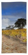 Golden Vines Beach Towel