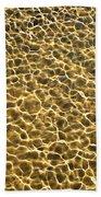 Golden Water Beach Towel