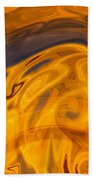 Golden Waves Of Blue Beach Towel