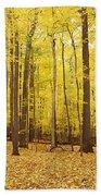 Golden Woods Beach Towel