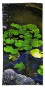 Goldfish With Lily Pads Beach Towel