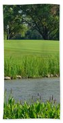 Golf Course Lay Up Beach Towel by Frozen in Time Fine Art Photography