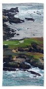 Golf Course On An Island, Pebble Beach Beach Towel