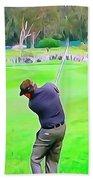 Golf Swing Drive Beach Towel