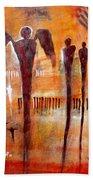 Golgotha Petroglyph Beach Towel