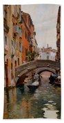 Gondola On A Venetian Canal Beach Towel