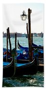Gondolas At Rest Beach Towel