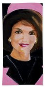 Good And Plenty Jackie O  Beach Towel by Candace Lovely