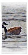 Goose Crossing Beach Towel