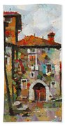 Gordes- Colorful Street Beach Towel