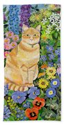 Gordon S Cat Beach Towel by Hilary Jones
