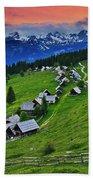 Goreljek Shepherding Village In Alpine Beach Sheet
