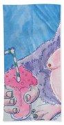 Gorilla Cartoon Beach Towel