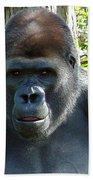 Gorilla Headshot Beach Towel