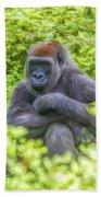 Gorilla Resting Beach Towel