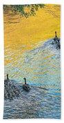Goslings Morning Swim Beach Towel