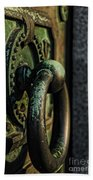 Goth - Crypt Door Knocker Beach Towel by Paul Ward