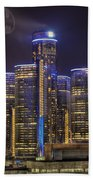 Gotham Detroit Beach Towel by Nicholas  Grunas