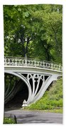 Gothic Bridge In Central Park Beach Towel