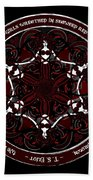Gothic Celtic Mermaids Beach Towel