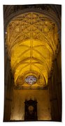 Gothic Vault Of The Seville Cathedral Beach Towel