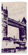Gothic Victorian Tower Bridge - London Beach Towel