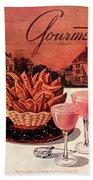 Gourmet Cover Featuring A Basket Of Potato Curls Beach Towel