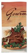 Gourmet Cover Featuring A Boar's Head Beach Towel
