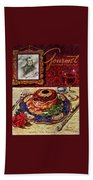 Gourmet Cover Featuring A Plate Of Tournedos Beach Towel