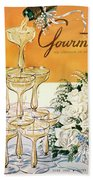 Gourmet Cover Featuring A Pyramid Of Champagne Beach Sheet