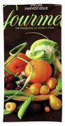 Gourmet Cover Featuring A Variety Of Fruit Beach Towel
