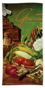 Gourmet Cover Featuring A Variety Of Vegetables Beach Sheet