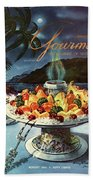 Gourmet Cover Illustration Of Fruit Dish Beach Towel