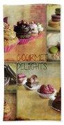 Gourmet Delights - Collage Beach Towel