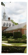 Governers Palace Garden Colonial Williamsburg Va Beach Towel