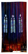 Grace Cathedral With Ribbons Beach Towel
