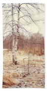 Grace In The Snow. Winter Poems Beach Towel