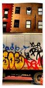 Graffit With Taxi Beach Sheet